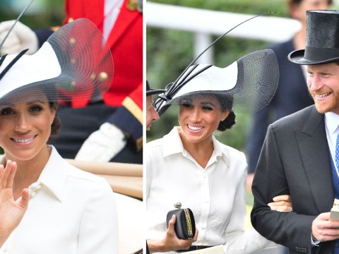 Meghan Markle makes Ascot debut with husband Prince Harry as they celebrate one month wedding anniversary