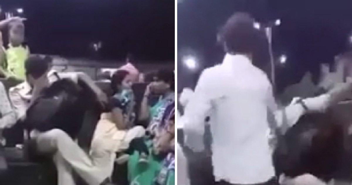WATCH: As Onlookers Demand He Stop, Cop Repeatedly Gropes