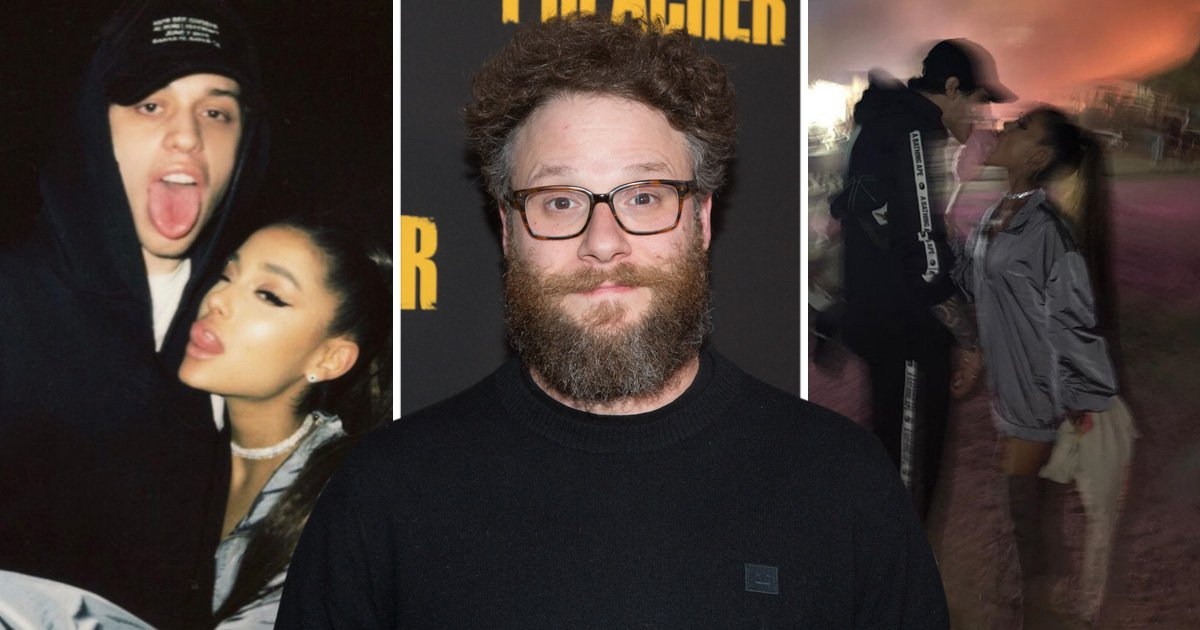 Seth Rogen is not here for Ariana Grande and Pete Davidson's PDA and we can't deal