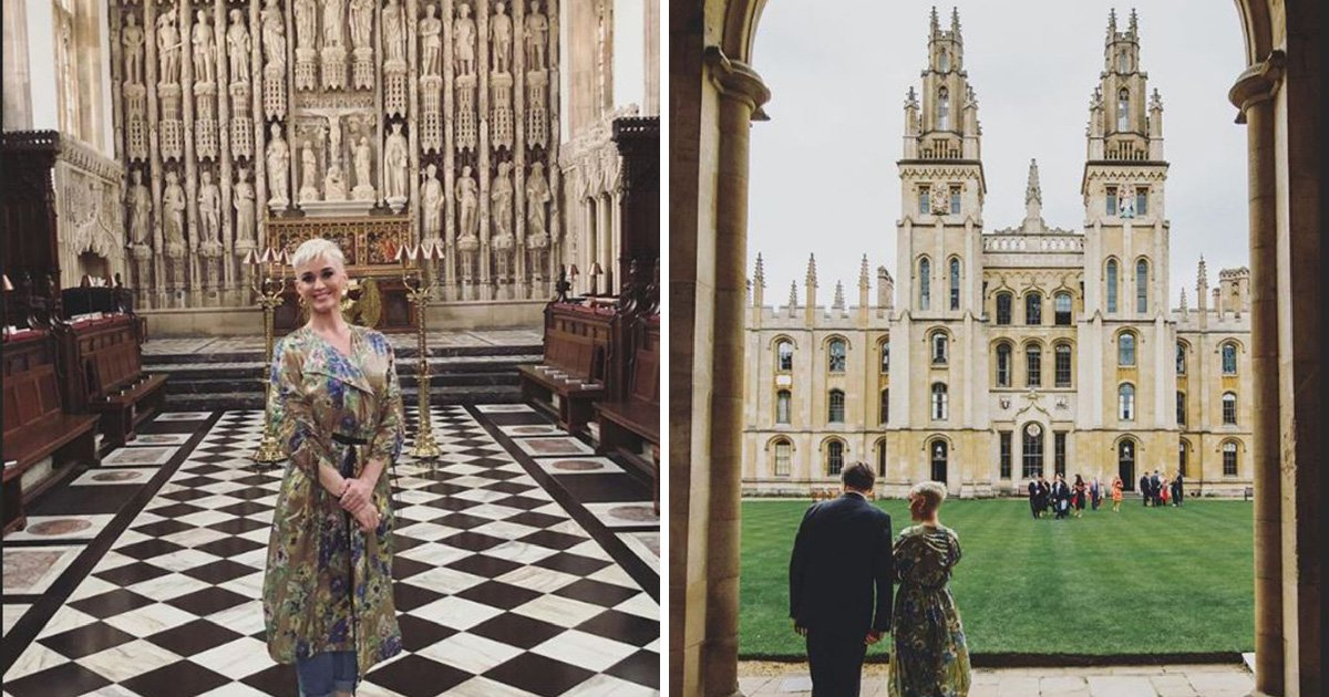 Katy Perry takes a break from UK tour to learn something at Oxford University
