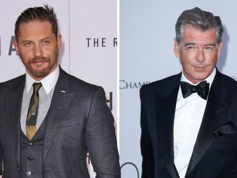 Pierce Brosnan gives Tom Hardy the thumbs up to be the next James Bond