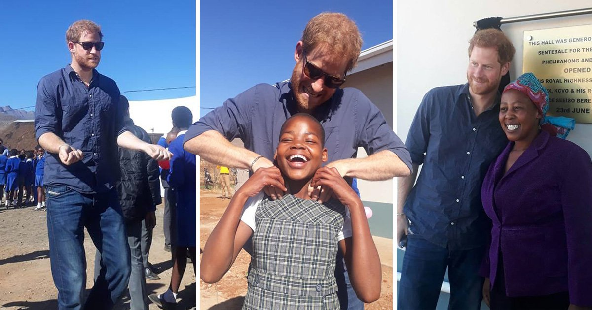 Prince Harry returns to Lesotho in emotional visit to children's community hall