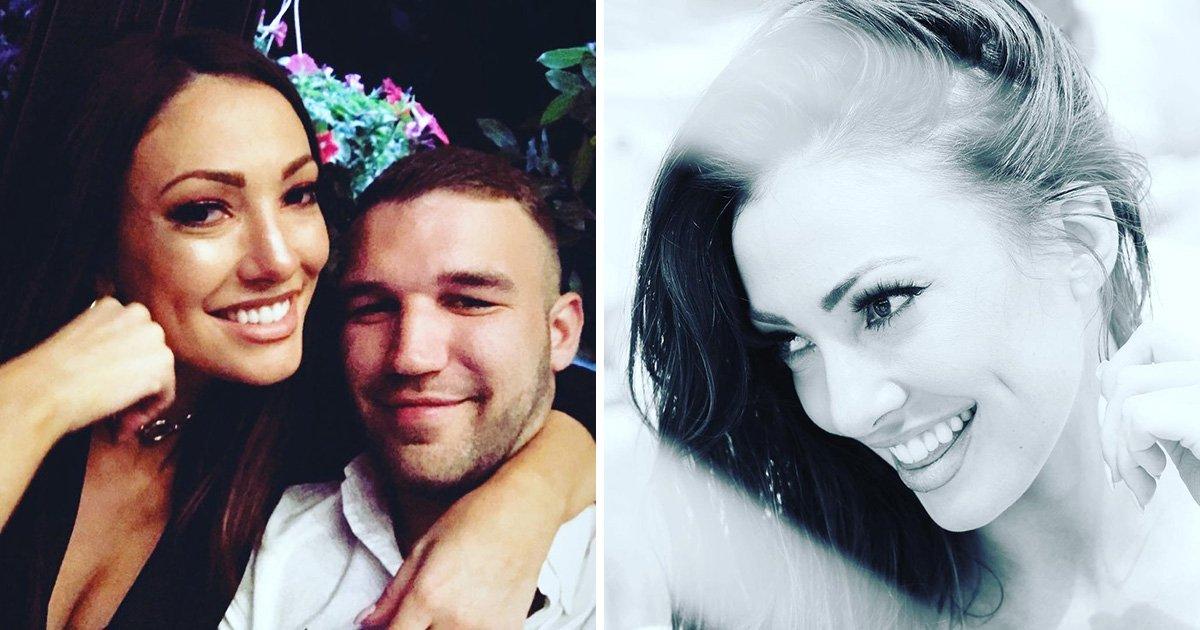 Love Island star Sophie Gradon with her boyfriend Aaron Armstrong