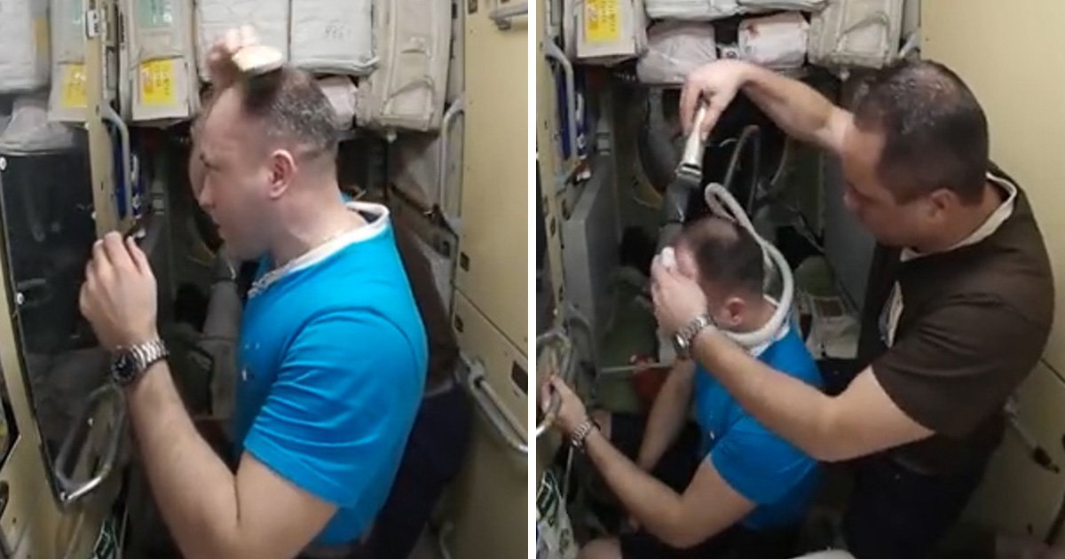 Here's what it's like to get a haircut while floating about on the International Space Station