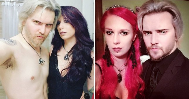 Polyamorous vampire couple use blood to feed