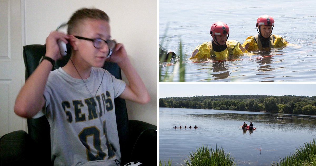 Missing boy last seen struggling in lake named as search for body continues