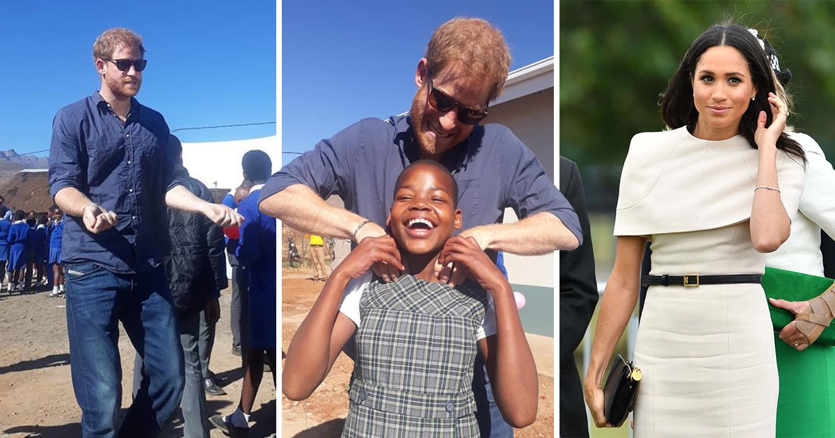 Why wasn't Meghan Markle with Prince Harry on his trip to South Africa and Lesotho?