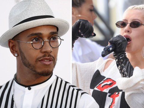 Lewis Hamilton is a pop star? Superstar driver makes singing debut with Christina Aguilera