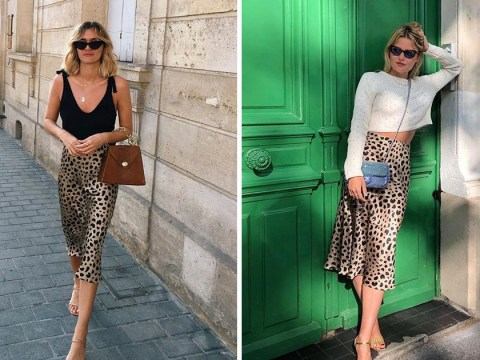 Throw everything else out -Realisation Par's Naomi leopard skirt is the summer must-have