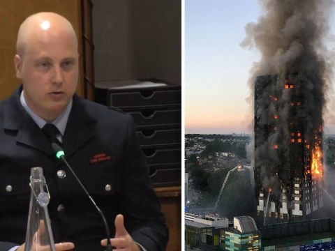 Another firefighter breaks down in tears as he is shown footage of Grenfell Tower