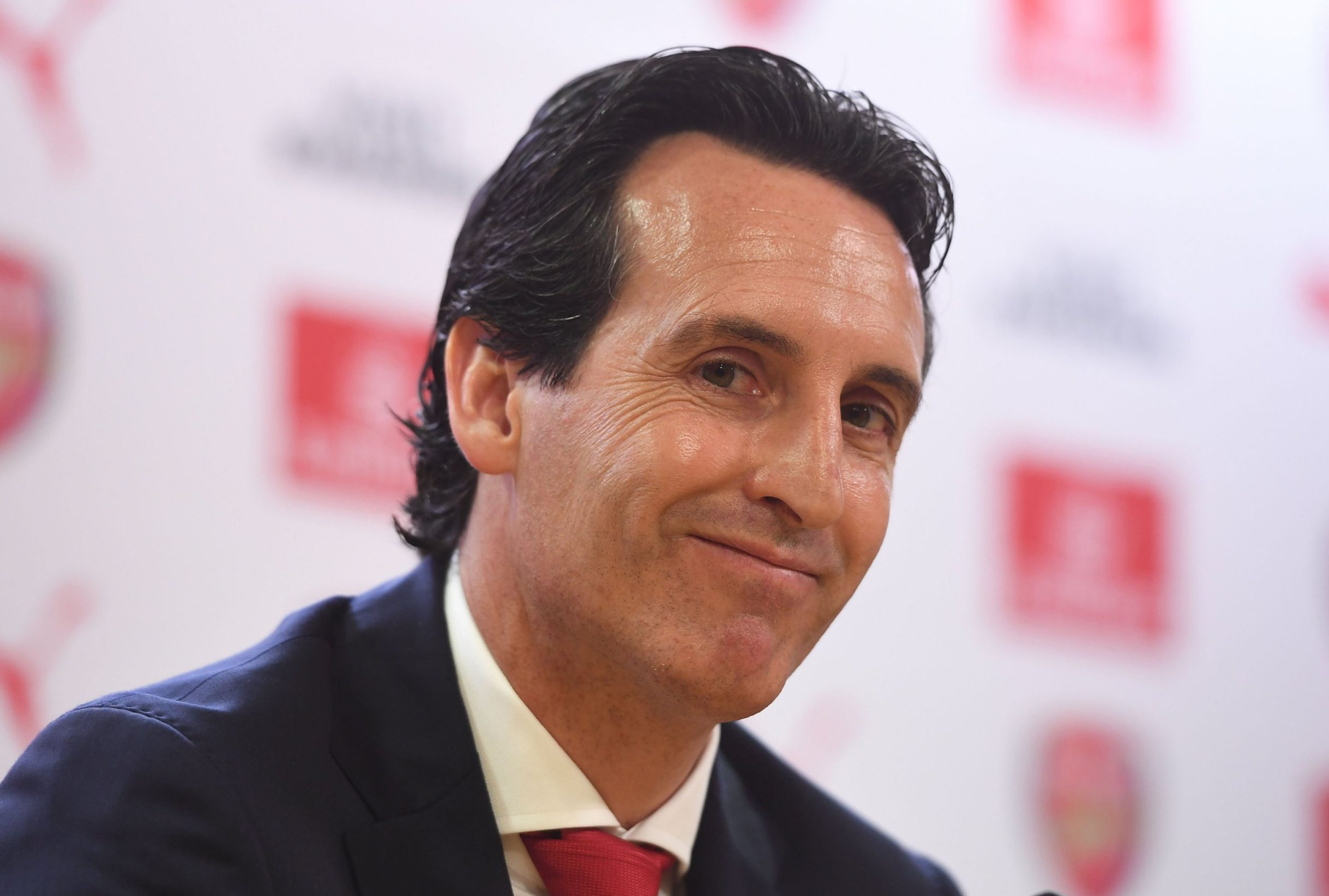 LONDON, ENGLAND - MAY 23: Arsenal new Head Coach Unai Emery attends a press conference at Emirates Stadium on May 23, 2018 in London, England. (Photo by Stuart MacFarlane/Arsenal FC via Getty Images)