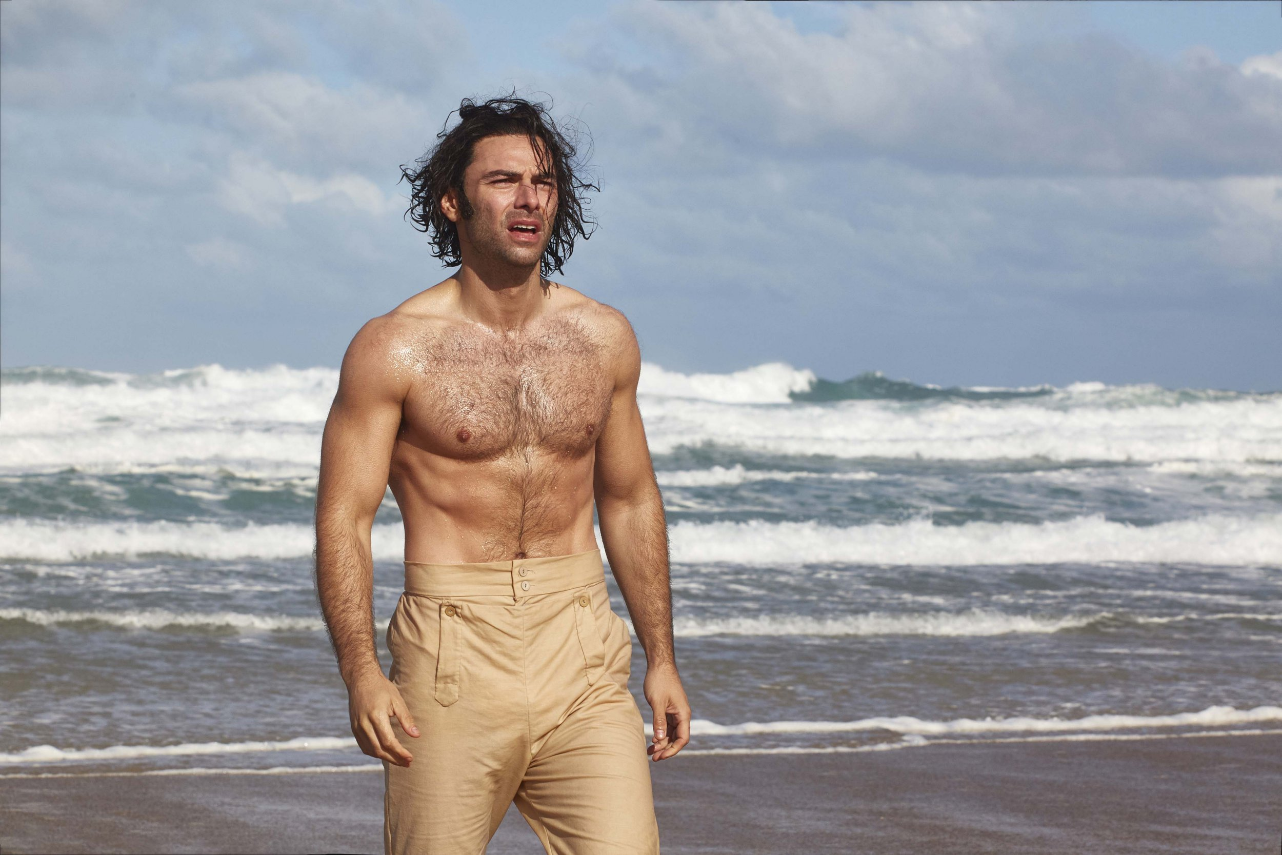 Aidan Turner strips off again in first pictures for Poldark series 4