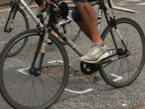 Potholes across Britain are now putting people off cycling