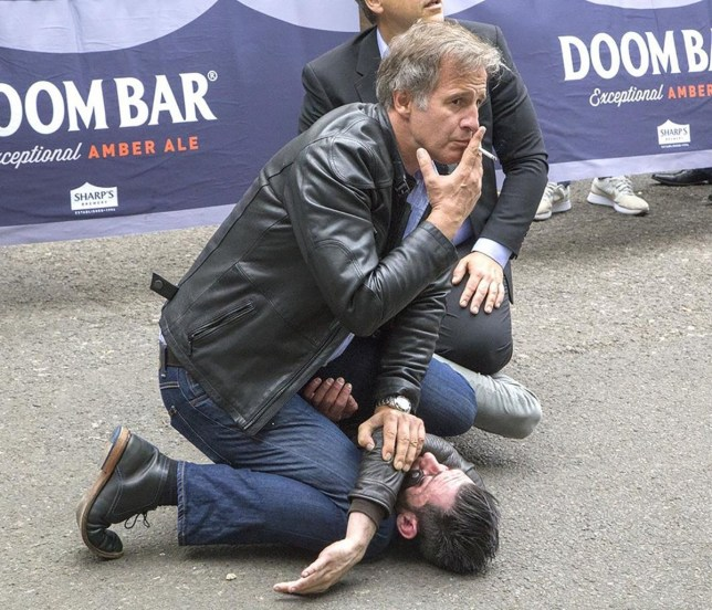 (Picture: Nick MacMahon)Mr Cool makes citizen's arrest in Borough Market and doesn't drop his cigarette