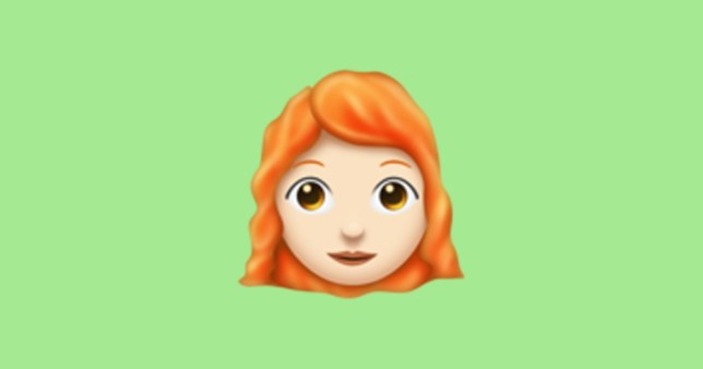 Ginger and bald emojis arrive tomorrow Credit: Emojipiedia