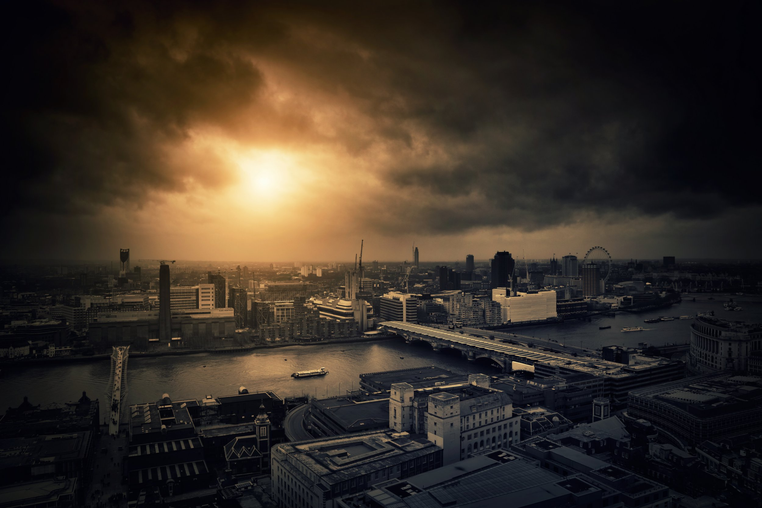 The view from St. Paul's church, London, UK.