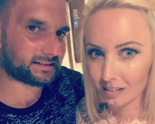 A grandson swindled his own 92-year-old grandfather to pay for his girlfriend?s boob job, a court heard. Luke Quatrini, 34, allegedly conned his grandad out of his life savings to put down a ?500 deposit for breast surgery for blonde girlfriend Emma Hodges. Aspiring model Emma later posed for a series of racy underwear shots showing her wearing just lacy bras and knickers. Pictured here is Emma Hodges with her (now husband) Luke Quatrini. WALES NEWS SERVICE
