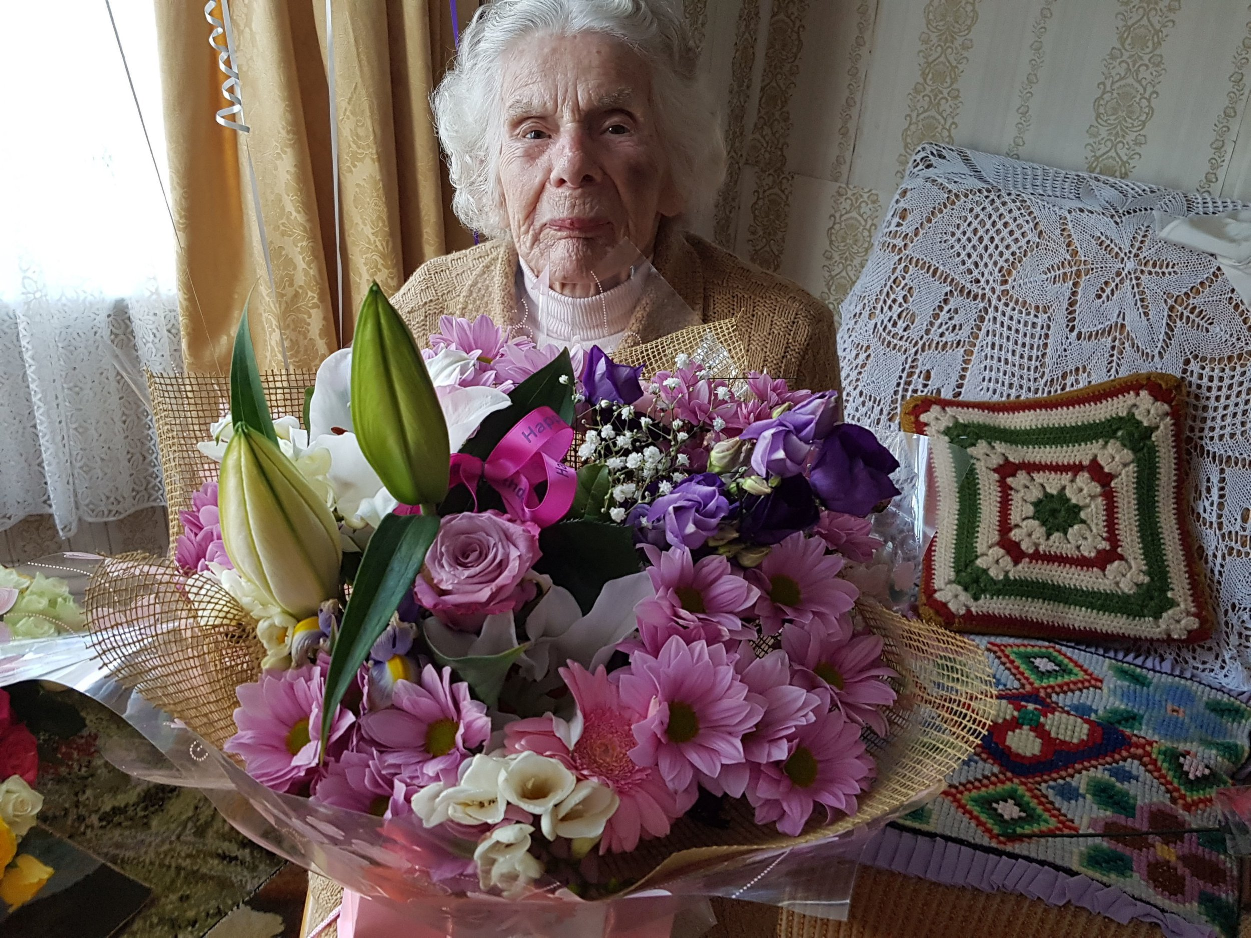 Undated handout photo issued by Stacia Fitzsimmons of 100-year-old robbery victim Zofija Kaczan, who had her neck broken in an attack on May 28 and has now died. PRESS ASSOCIATION Photo. Issue date: Wednesday June 6, 2018. See PA story POLICE Derby. Photo credit should read: Stacia Fitzsimmons/PA Wire