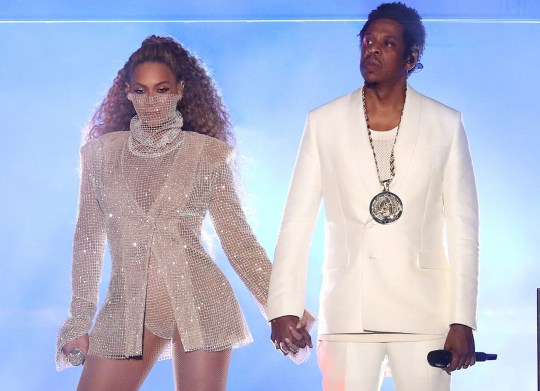 Mandatory Credit: Photo by PictureGroup/REX/Shutterstock (9704787d) Beyonce and Jay-Z Beyonce and Jay-Z in concert, 'On The Run II Tour', Principality Stadium, Cardiff, Wales, UK - 06 Jun 2018