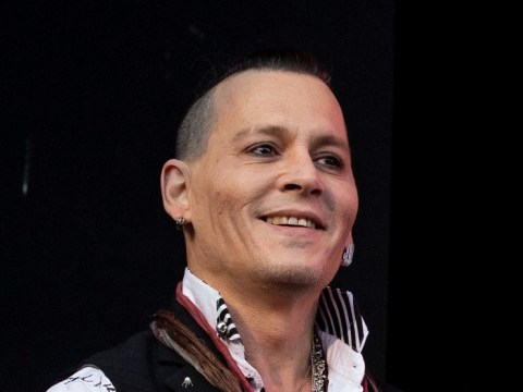 Johnny Depp looks happy and healthy as he returns to the stage with Hollywood Vampires