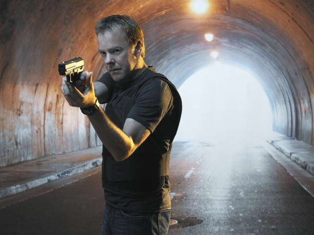 No Merchandising. Editorial Use Only. No Book Cover Usage. Mandatory Credit: Photo by Fox-TV/Kobal/REX/Shutterstock (5885413ab) Kiefer Sutherland 24 Twenty Four - 2002 Fox-TV USA Television 24 Heures Chrono