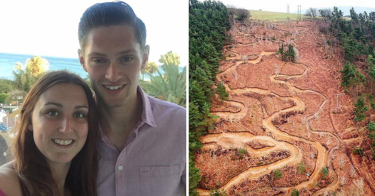Mountain biker, 23, dies after crashing into a tree on a race track he designed