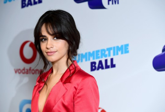 Camila Cabello on the red carpet of the media run at Capital's Summertime Ball with Vodafone at Wembley Stadium, London.