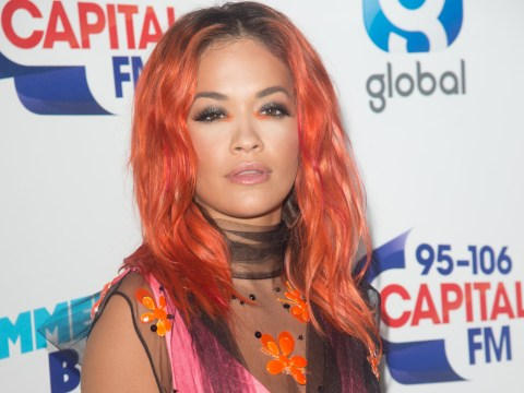 Rita Ora is a neon colour-clash fantasy as she lands at Capital Summertime Ball