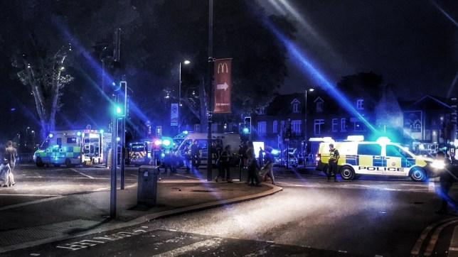 """A man in his 30s has died after a stabbing in north London. Officers were called to Green Lanes near Turnpike Lane station at about 9.45pm on Saturday where they found a """"seriously injured"""" man. He was pronounced dead at the scene. (Picture: @Electra_Edward/Twitter)"""