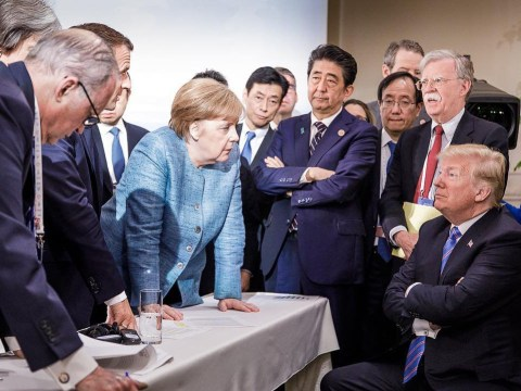 Picture from the G7 summit that suggests it didn't exactly go to plan
