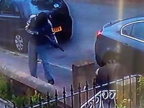 Masked gunman pictured shooting victim point blank on street in Yorkshire