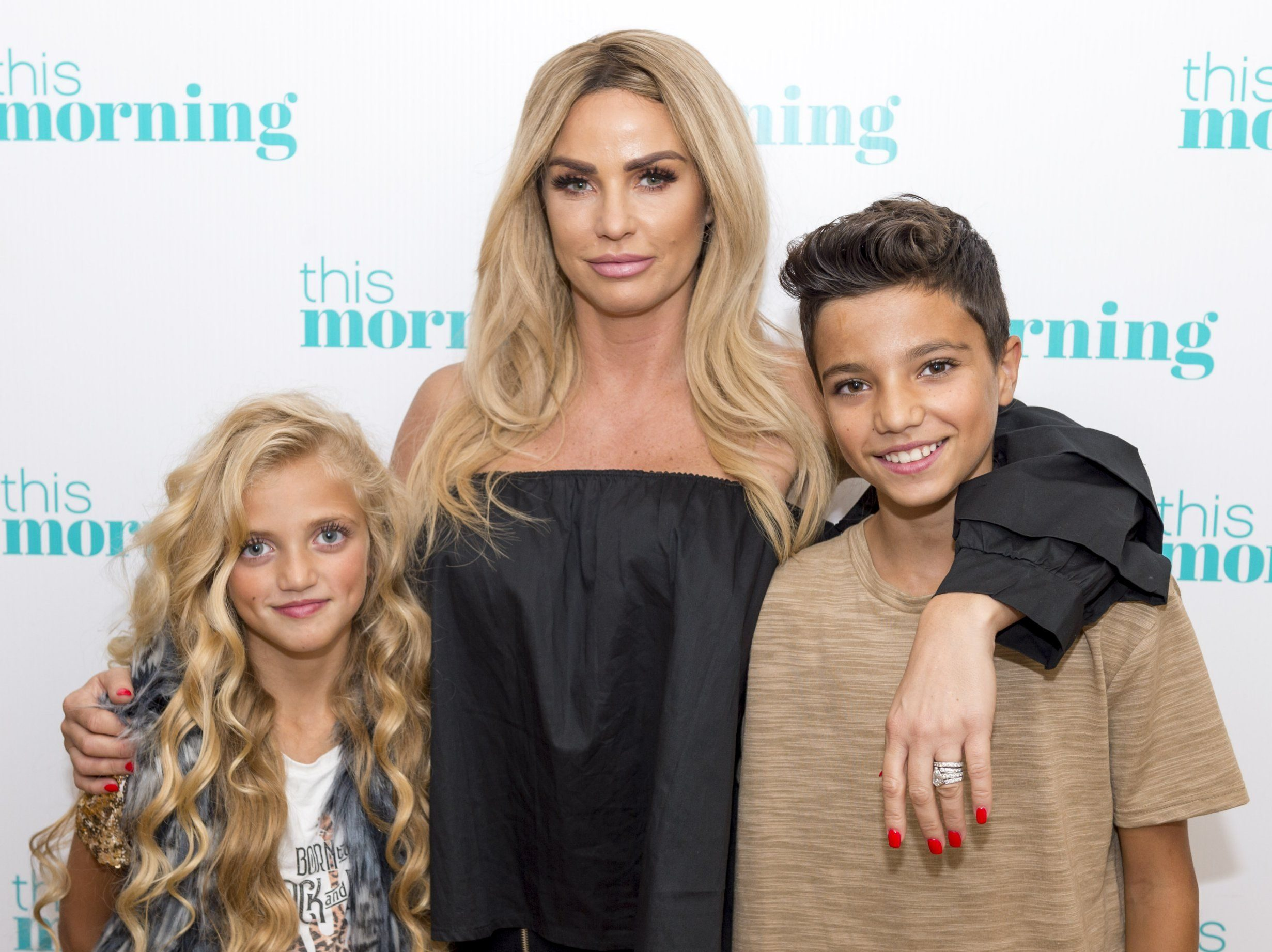 EDITORIAL USE ONLY. NO MERCHANDISING Mandatory Credit: Photo by S Meddle/ITV/REX/Shutterstock (8982234ca) Katie Price, Princess Tiaamii and Junior Andre 'This Morning' TV show, London, UK - 03 Aug 2017 She?s the original Queen of Reality TV - Katie Price tells us about new ?fly on the wall? series - her first since 2012. The 12 part series which started a few weeks ago on Quest Red promises to give fans an ?access all areas pass? into her life at home and work and will feature her husband Kieron, her children, celebrity chums and collection of animals. She tells us what we can expect from the rest of the series, why she has no problem flirting with other men and her continuing love of glamour modelling.
