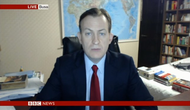 BBC dad is not impressed