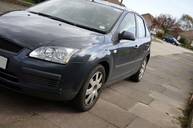 Mandatory Credit: Photo by E. M. Welch/REX/Shutterstock (3740232a) Car parked with nearside wheels on the pavement which can block access along the footway for people with disabilities or mothers with pushchairs Pavement parking - 08 Apr 2014