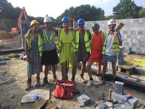 Builders told they can't wear shorts to work wear dresses to beat health and safety