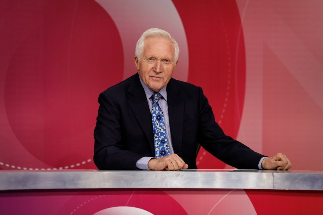 Programme Name: Question Time - TX: n/a - Episode: n/a (No. Generics) - Picture Shows: David Dimbleby - (C) Richard Lewisohn - Photographer: Richard Lewisohn