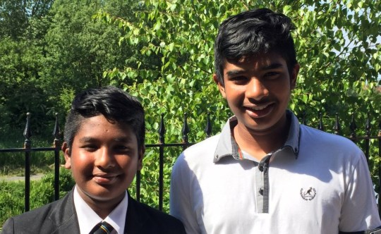 Christian teenage brothers facing deportation from Scotland to Pakistan. Areeb and Somer Umeed Bakhsh and their parents Parveen and Maqsood Bakhsh. http://www.churchofscotland.org.uk/news_and_events/news/2018/Glasgow_Christian_teenagers_terrified_to_return_to_Pakistan Pictures free, please credit photographer Cameron Brooks