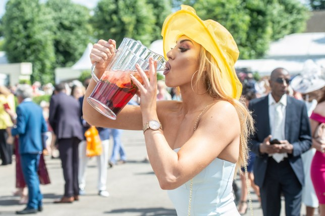 Racegoers in attendance on Ladies Day at Royal Ascot