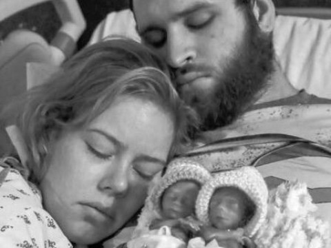 Young woman shares heartbreaking images of tiny premature babies