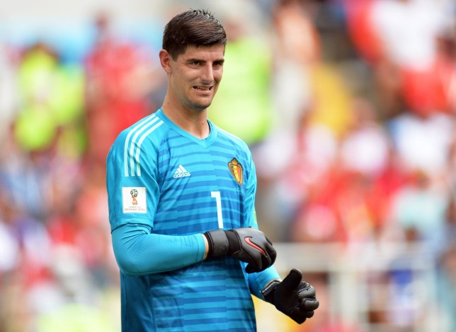 epa06833067 Belgium's goalkeeper Thibaut Courtois reacts during the FIFA World Cup 2018 group G preliminary round soccer match between Belgium and Tunisia in Moscow, Russia, 23 June 2018. (RESTRICTIONS APPLY: Editorial Use Only, not used in association with any commercial entity - Images must not be used in any form of alert service or push service of any kind including via mobile alert services, downloads to mobile devices or MMS messaging - Images must appear as still images and must not emulate match action video footage - No alteration is made to, and no text or image is superimposed over, any published image which: (a) intentionally obscures or removes a sponsor identification image; or (b) adds or overlays the commercial identification of any third party which is not officially associated with the FIFA World Cup) EPA/PETER POWELL EDITORIAL USE ONLY