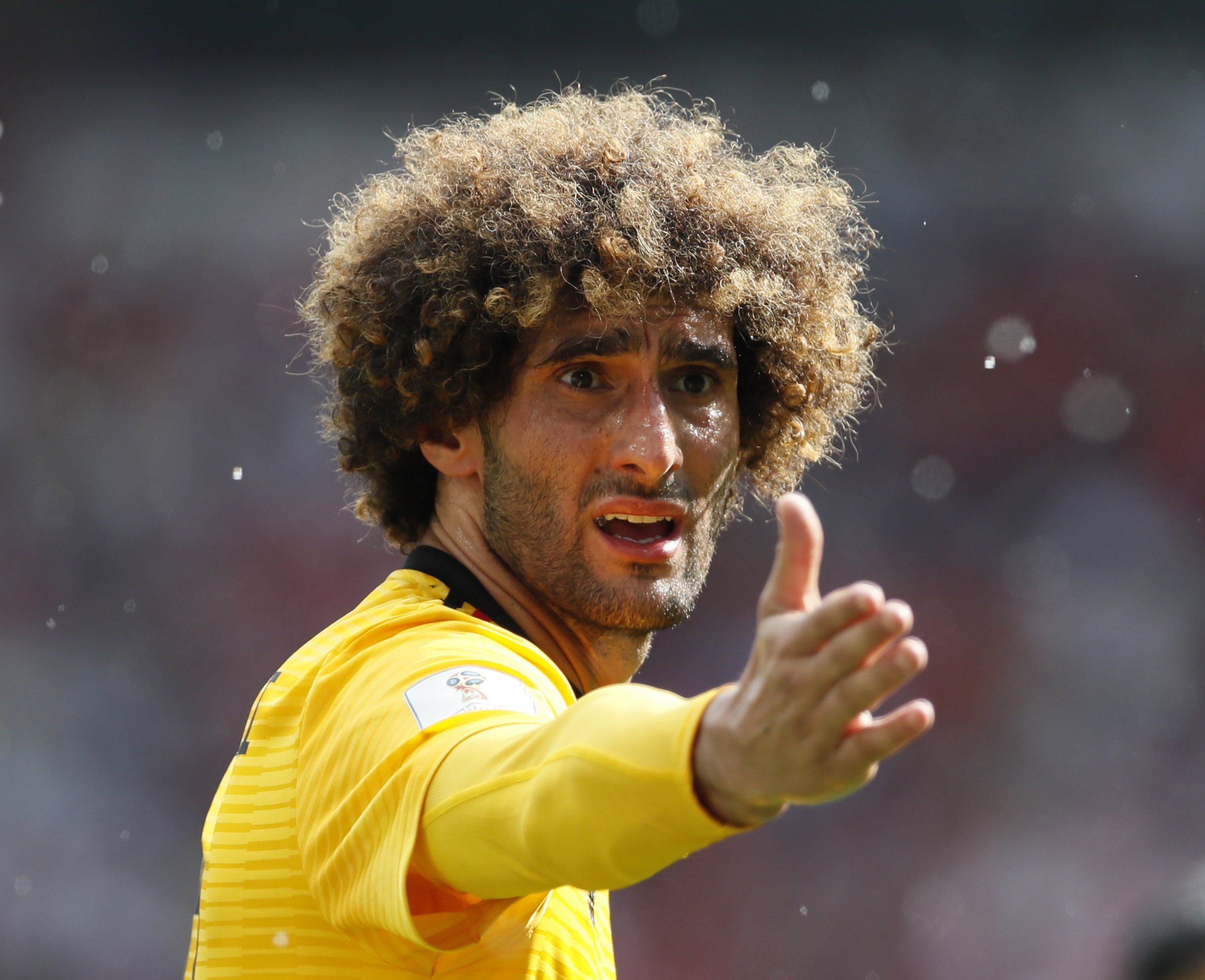 Sportimage via PA Images Marouane Fellaini of Belgium during the FIFA World Cup 2018 Group G match at the Spartak Stadium, Moscow. Picture date 23rd June 2018. Picture credit should read: David Klein/Sportimage via PA Images
