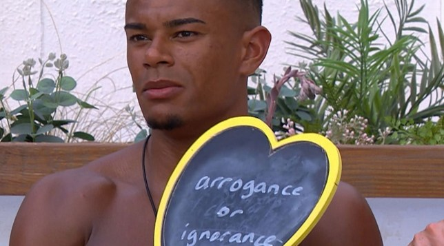Editorial Use Only. No Merchandising. No Commercial Use. Mandatory Credit: Photo by ITV/REX/Shutterstock (9727038h) Wes Nelson during the challenge 'Love Island' TV Show, Series 4, Episode 22, Majorca, Spain - 25 Jun 2018 Episode highlights: - Alex sees red as Ellie's doubts set in - Cracks appear for Megan and Eyal - Wes and Laura clash after challenge