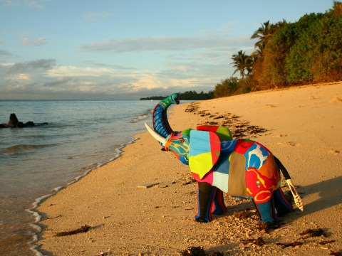 Kenyan conservationists are keeping the ocean clean by making art from old flip-flops