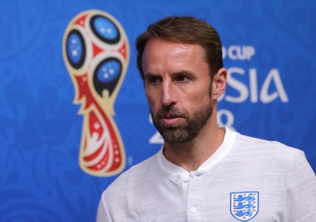e5fefeb8771 epa06844829 England's head coach Gareth Southgate attends a press  conference in Kaliningrad, Russia, 27