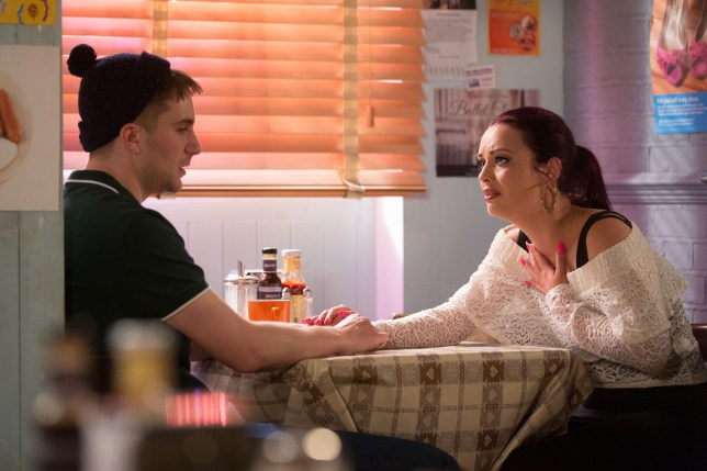 Whitney tries to get through to Halfway in EastEnders