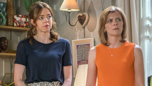 Toyah and Leanne in Coronation Street