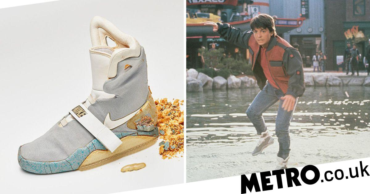 Skiing Sandy lanthanum  Michael J Fox's original Nike Air Mags from Back To The Future II sells for  $100k | Metro News