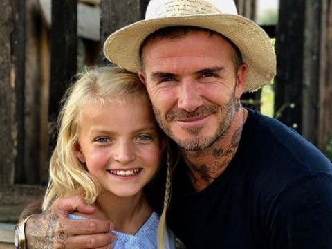 David Beckham has backed The Voice Kids star Lilia Slattery ahead of tonight's debut