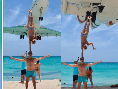 Acrobatic couple have no regrets after 'dangerous' plane stunt