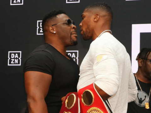 I'll slap you: Anthony Joshua and Jarrell Miller clash at DAZN press conference in New York